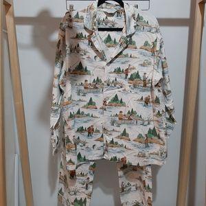 Vintage Charles Goodnight 2 piece pyjama